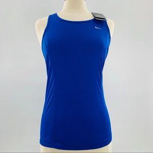 NWT Nike Dri Fit Bright Blue Tank   S